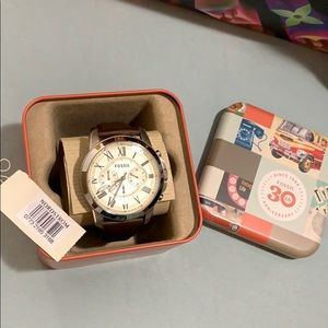 NWT Unisex Fossil Watch W/ Leather Strap